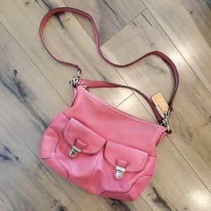 Pink Coach Covertible Crossbody Bag